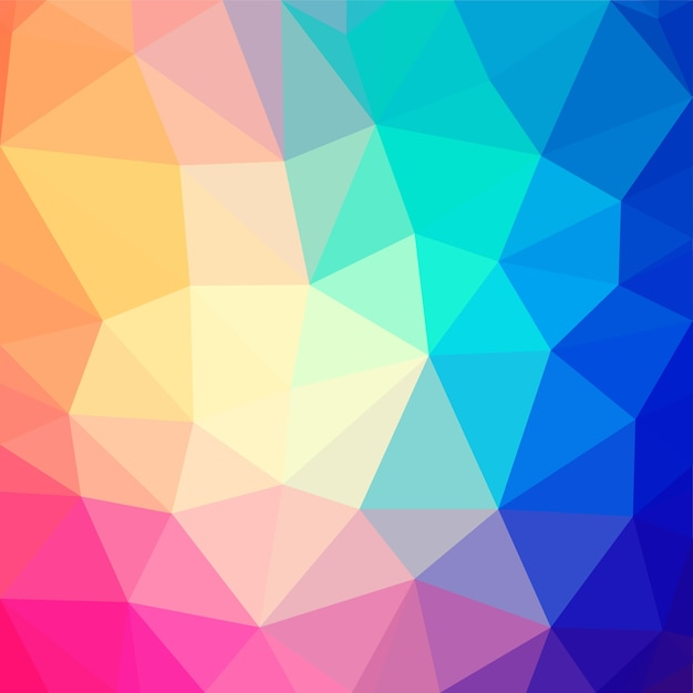 Abstract Colorful Triangle Shape:  Colorful Low Poly Triangular Shape Abstract Background