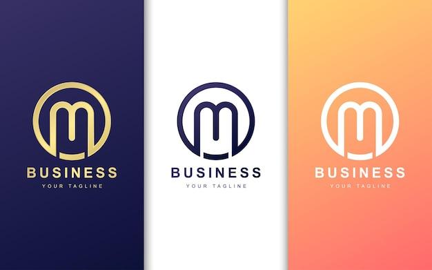 モダンなコンセプトのカラフルなm文字のロゴ Premiumベクター
