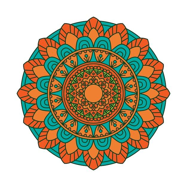 Colorful mandala background Premium Vector