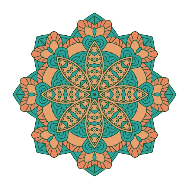 Colorful mandala background Premium Vector