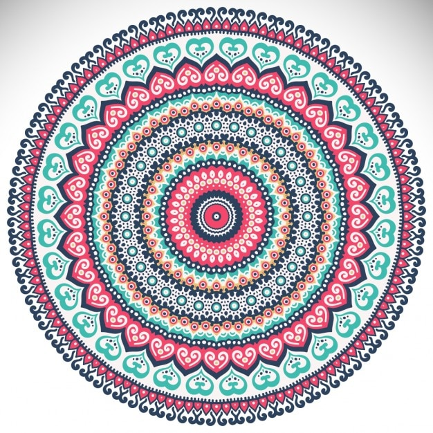 colorful mandala on a white background vector free download