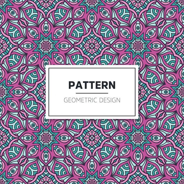 Colorful mandala seamless pattern Premium Vector