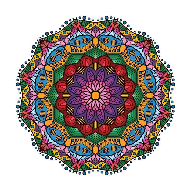 Colorful Mandala Vector Free Download