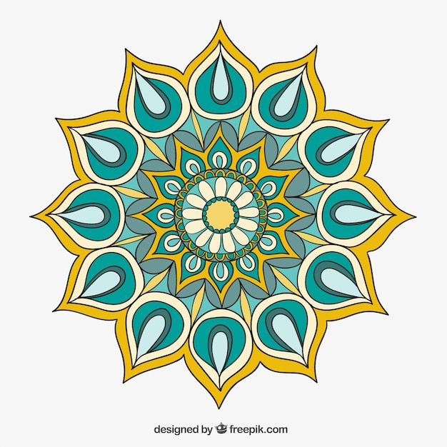 colorful mandala vector free download