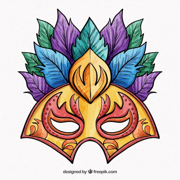 Colorful mask design for carnival Vector | Free Download