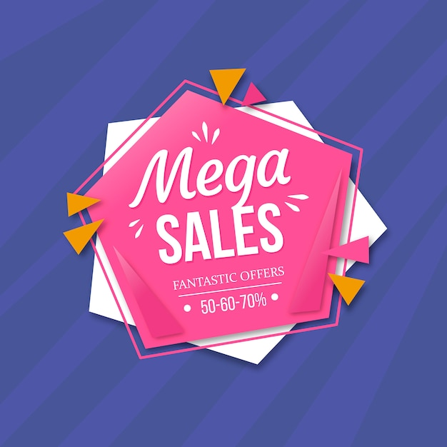 Colorful memphis sales background Free Vector