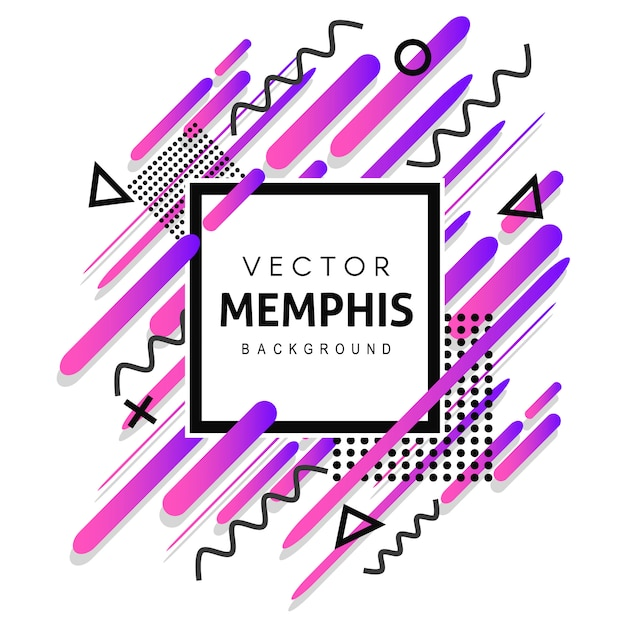 Colorful memphis vector background Free Vector