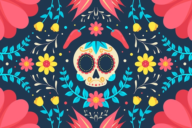 Colorful mexican screensaver Free Vector