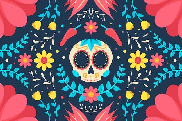Красочная мексиканская заставка Бесплатные векторы