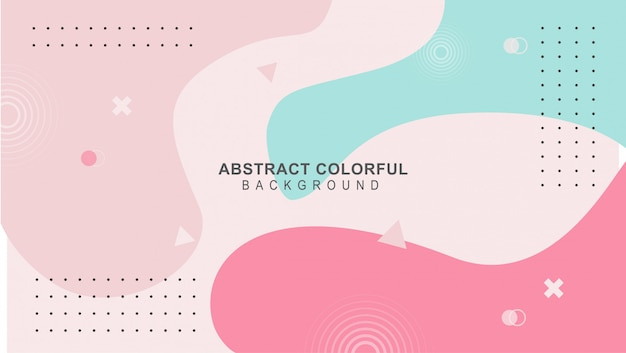 Colorful mimphis design backgeound vector Premium Vector