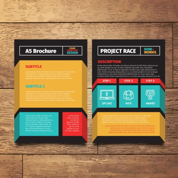 colorful modern a5 brochure vector free download
