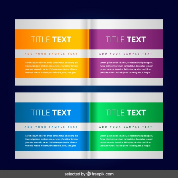 Colorful modern banners collection