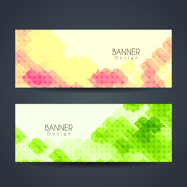 Colorful modern banners with dots