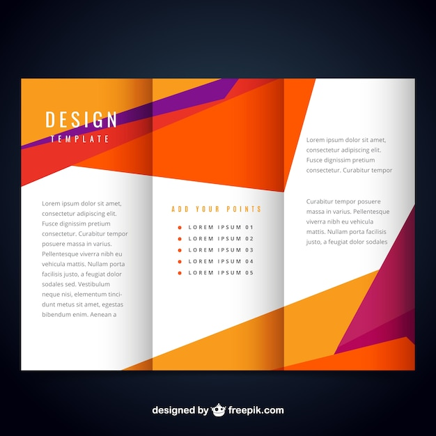 Colorful modern brochure template vector free download for Templates for brochures free download