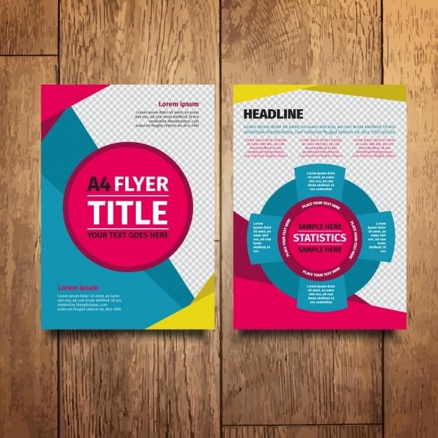 colorful modern flyer design vector free download