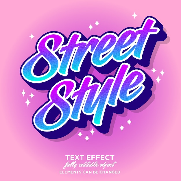 Colorful modern font effect for youth culture Premium Vector
