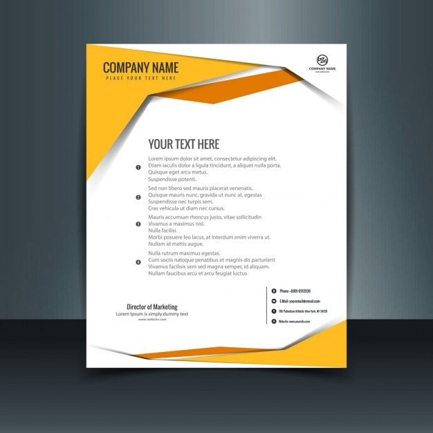 colorful modern letterhead template vector free download