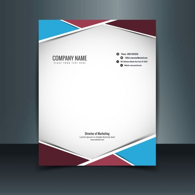 Colorful modern letterhead Vector   Free Download