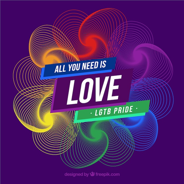 Colorful modern lgtb pride background Free Vector