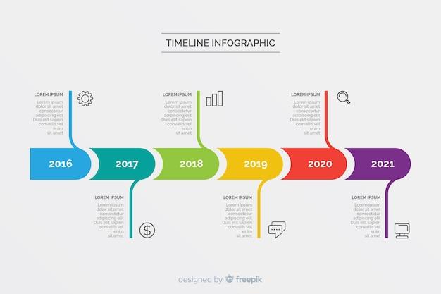 Красочный современный график инфографики шаблон Premium векторы