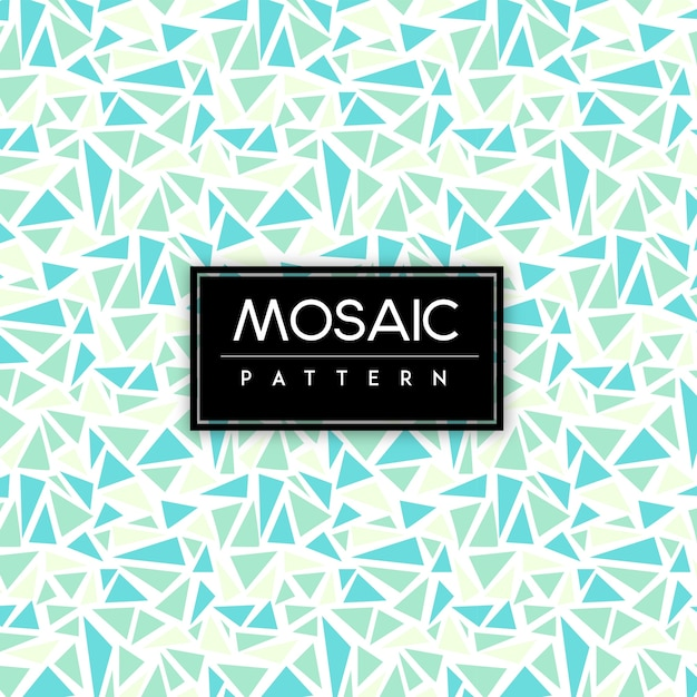 Colorful Mosaic Seamless Pattern Background Free Vector