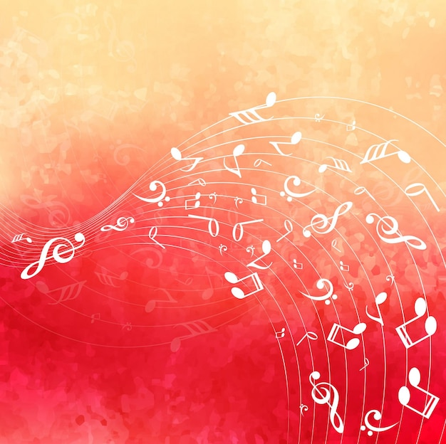 Colorful music background Vector | Free Download