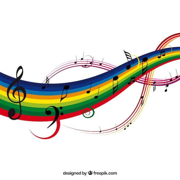 Colorful music background Free Vector