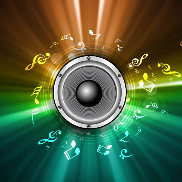 Colorful Music Speaker Background 827892