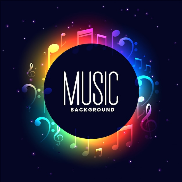 Colorful musical festival with music notes design Free Vector