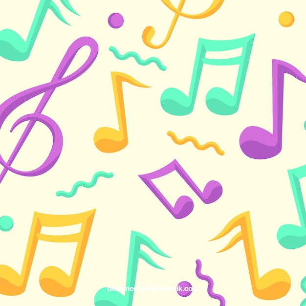 Musical Note Images Pictures - Colorful Music Notes Transparent Background  Clipart (#254135) - PikPng