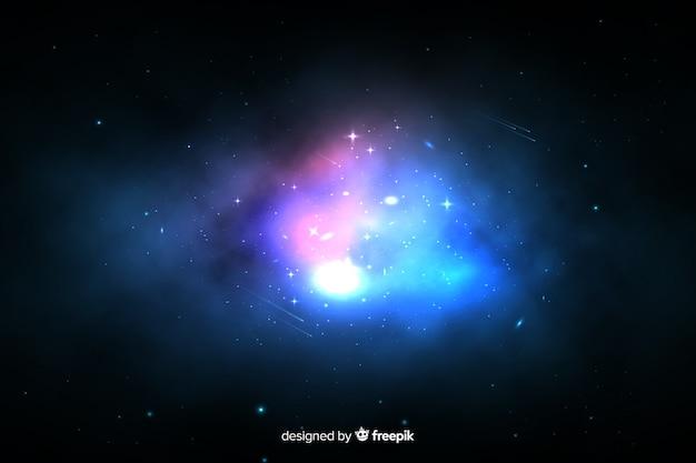 Colorful nebula galaxy background Free Vector