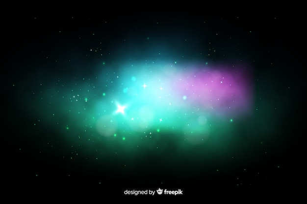 Colorful nebula galaxy background Free Vector