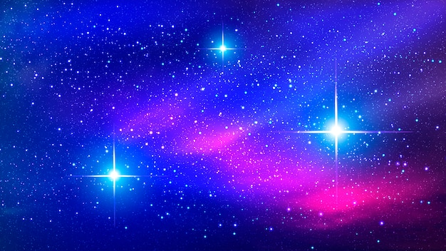 Colorful nebula in space background Premium Vector