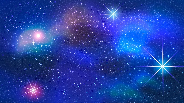 Colorful nebula in space background. Premium Vector