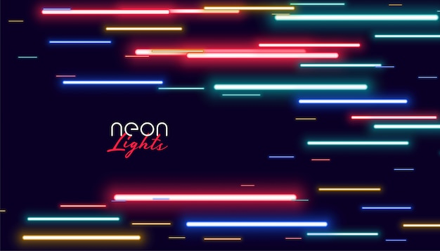Colorful neon speed lights Free Vector