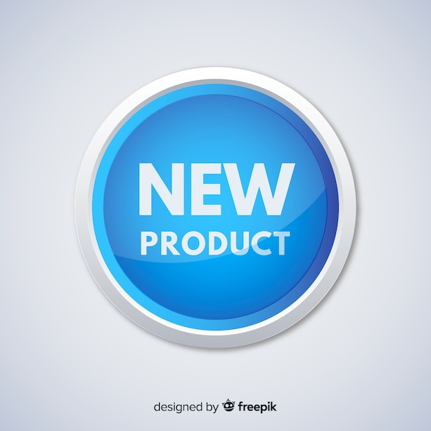 Colorful new product composition with flat design Free Vector