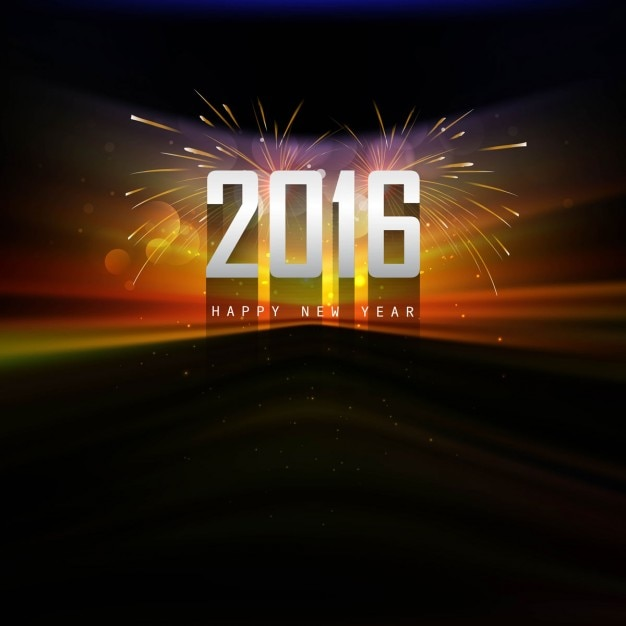 Colorful new year 2016 background in shiny style