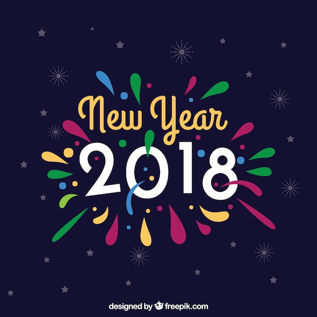 Colorful New Year Background Vector Free Download