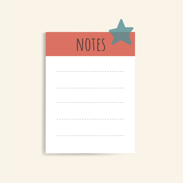 Colorful note pads Free Vector
