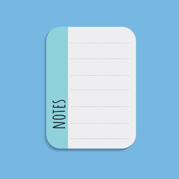 Colorful notepad Free Vector