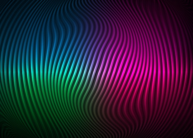 Colorful optical illusion, abstract background. twisted spiral design concept. wavy striped pattern Premium Vector