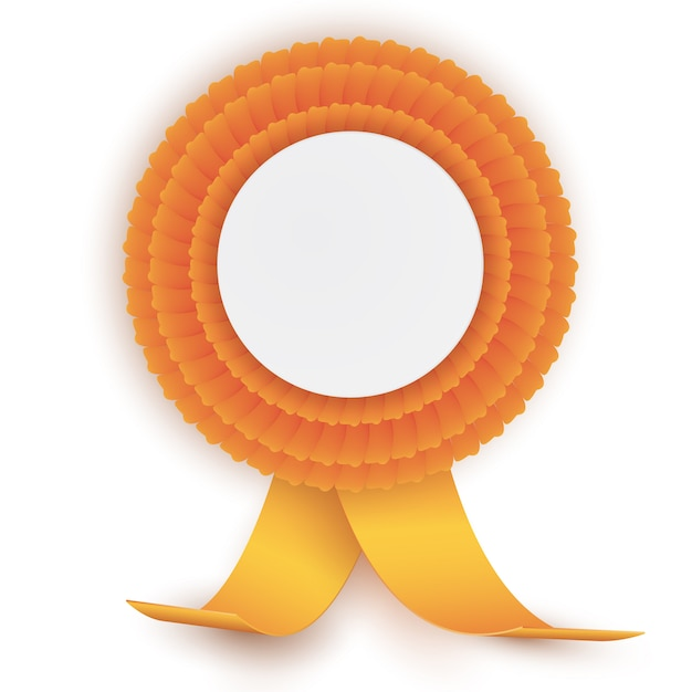 Colorful orange rosette Premium Vector