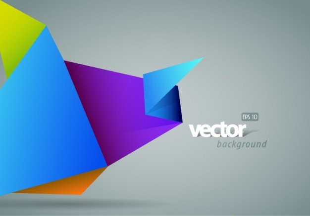 colorful origami with gray background vector vector free