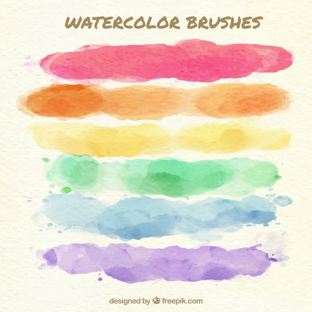 Colorful paint brushes background Free Vector