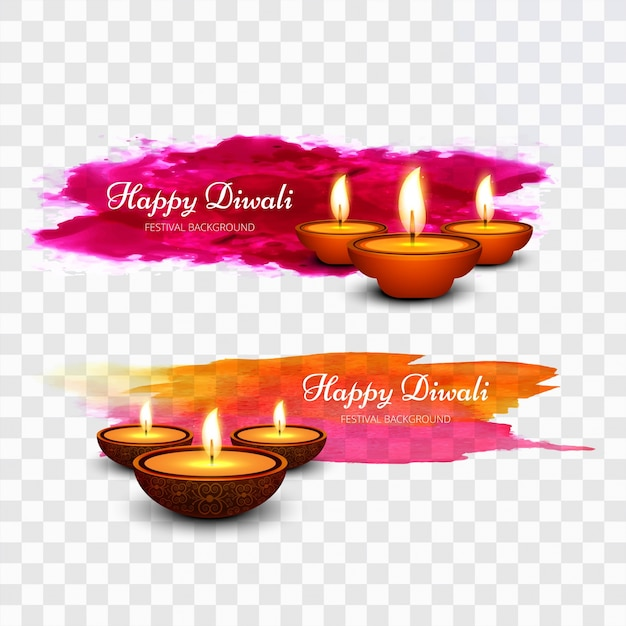 Colorful paint diwali design Free Vector