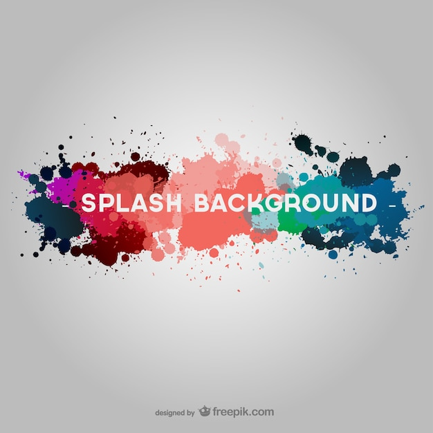 Colorful paint splash background Free Vector