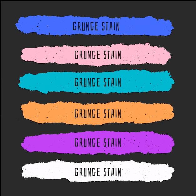 Красочные пятна краски в стиле гранж Бесплатные векторы