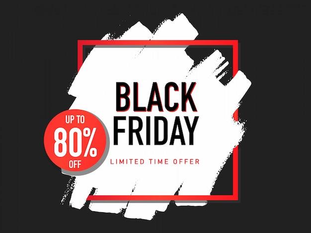 Striscione colorato dipinto per venerdì nero Vettore gratuito
