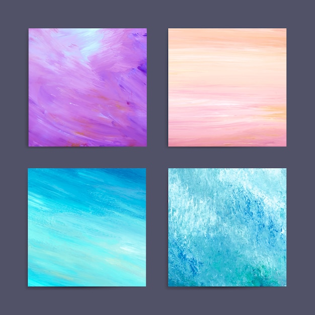 Colorful painting background set Free Vector