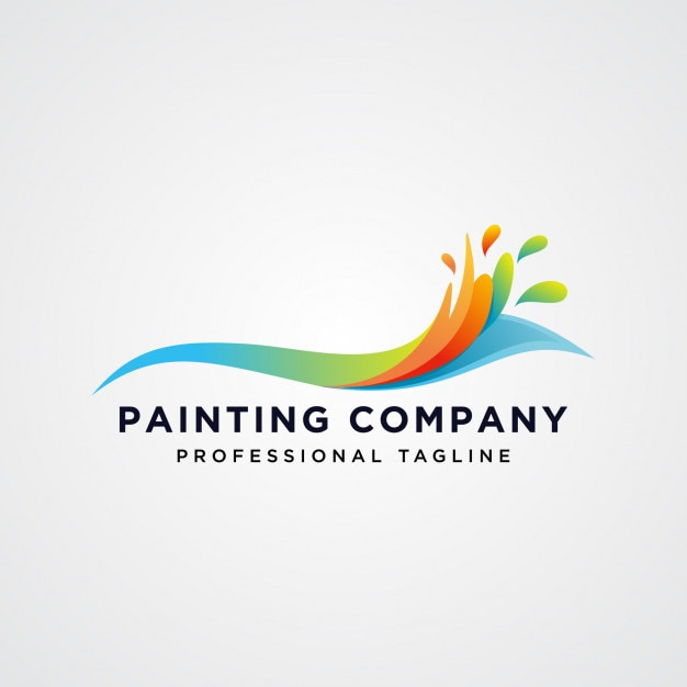 Colorful Painting Company Logo Vector Premium Download - Painting company